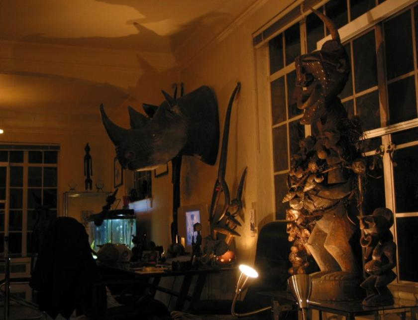 living room Songye and rhino